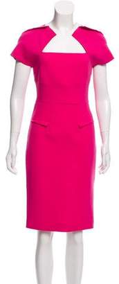 Roland Mouret Wool & Silk- Blend Short Sleeve Dress