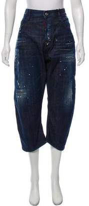 DSQUARED2 High-Rise Cropped Jeans