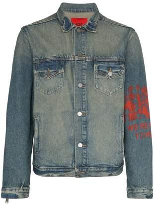 424 Zip sleeve denim jacket