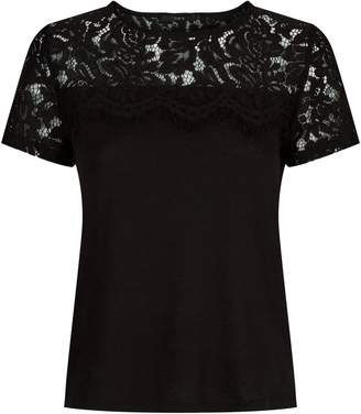 SET Lace Trim T-Shirt