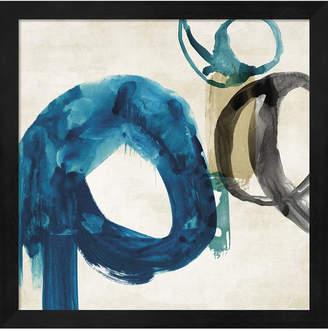 Pi Metaverse Blue Ring I By Galerie Framed Art