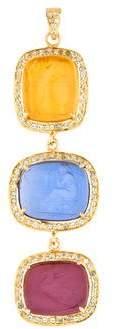 Tagliamonte Blue Topaz-Accented Venetian Cameo Pendant