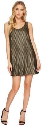 BB Dakota Tawny Metallic Mesh Shift Dress Women's Dress