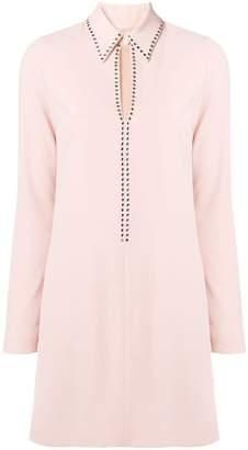 Victoria Beckham Victoria embellished split shirt dress