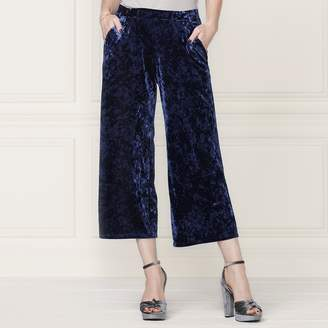 Lauren Conrad Runway Collection Wide-Leg Crop Velvet Pants - Women's