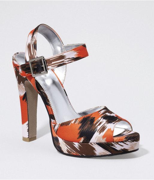 Express Ikat Print Platform Sandal