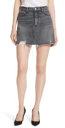 GRLFRND Eva A-Frame Gusset Denim Skirt