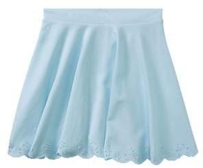 Ralph Lauren Girl's Scalloped Ponte Pull-On Skirt