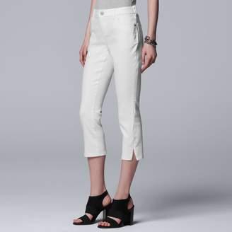Vera Wang Women's Simply Vera Side Slit Capri Jeans