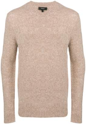 Theory melange crew neck sweater
