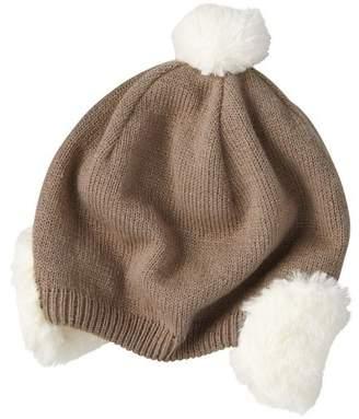 Combimini ファー耳あて付きニット帽