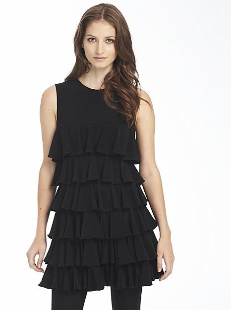 Norma Kamali for Everlast Ruffle Dress