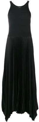 Theory flared pleated maxi dress