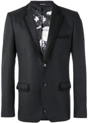Alexander McQueen embroidered trim blazer