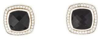 David Yurman Diamond & Onyx Earclips silver Diamond & Onyx Earclips