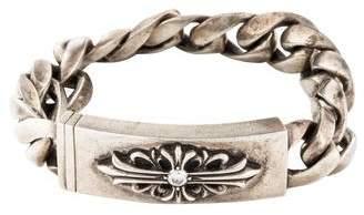 Chrome Hearts Diamond Maltese Cross ID Bracelet