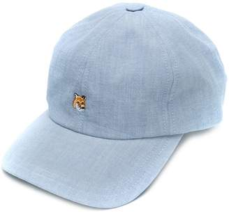 MAISON KITSUNÉ fox embroided cap