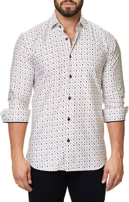 Maceoo Shaped-Fit Luxor Funky Heart Sport Shirt, White