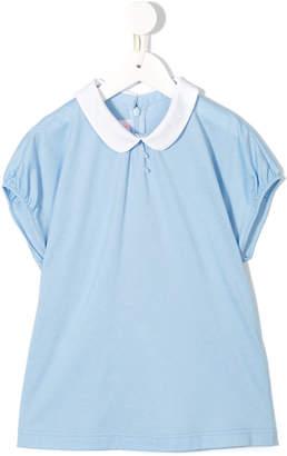 Familiar peter pan collar blouse