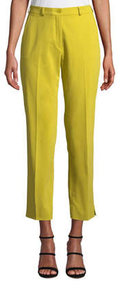 Etro Mid-Rise Straight-Leg Stretch-Cotton Capri Trousers