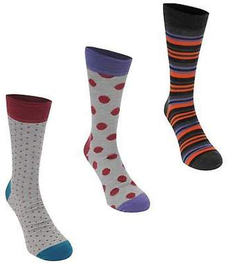 Happy Socks Mens 3 Pack Pattern Crew Stretch Stretchy