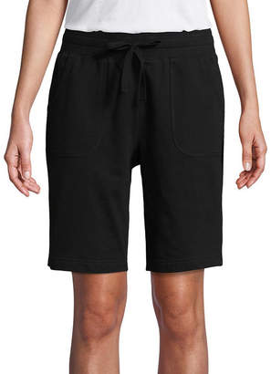 ST. JOHN'S BAY SJB ACTIVE Active Womens Mid Rise Pull-On Short