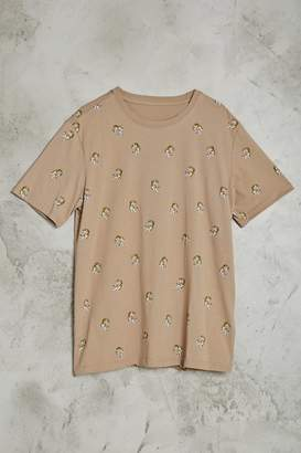 Forever 21 Tiger Print Tee