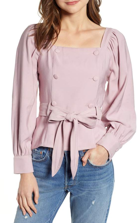 Moon River Double Breasted Blouse