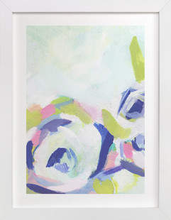 Gardenia Abstracted Art Print