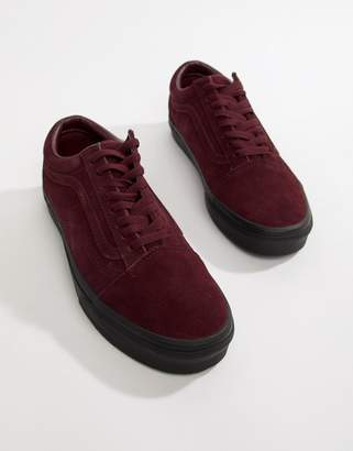 Vans Old Skool suede sneakers in burgundy VN0A38G1UA41