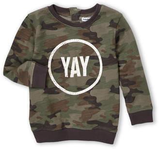Babaluno (Newborn Boys) Camouflage Yay Sweatshirt