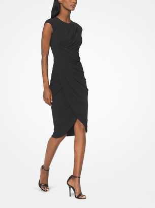 Michael Kors Ruched Stretch Matte-Jersey Dress
