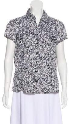 MICHAEL Michael Kors Button-Up Short Sleeve Top