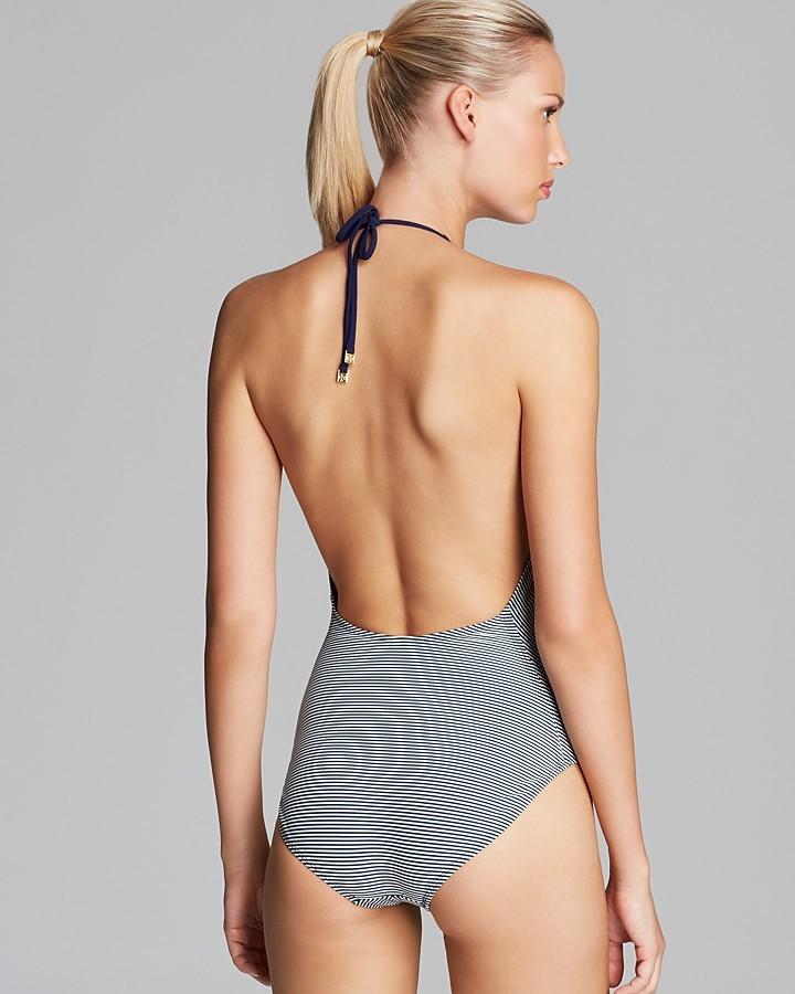Tory Burch Nevis Stripe One Piece Swimsuit