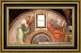 Michelangelo Canvas Art USA Nahshon by Framed Giclee Canvas Art Print - Ready to Hang