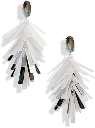 Kendra Scott Jasper Fringe Drop Earrings