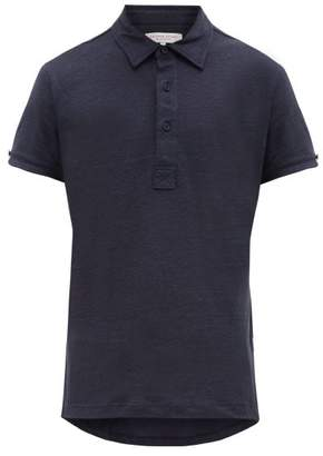 Orlebar Brown Sebastian Linen Polo Shirt - Mens - Navy