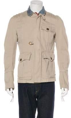 DSQUARED2 Denim Layered Twill Jacket