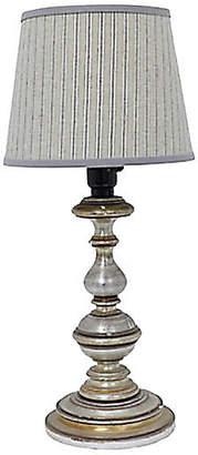 One Kings Lane Vintage Vintage English Striped Lampshade - Rose Victoria