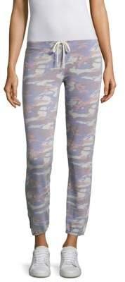 MONROW Vintage Blue Camo Sweatpants