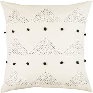 Anchal Project Embroidered Cotton Triangle Toss Pillow