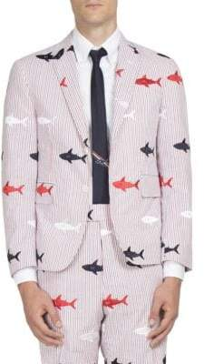 Thom Browne Shark Embroidered Jacket