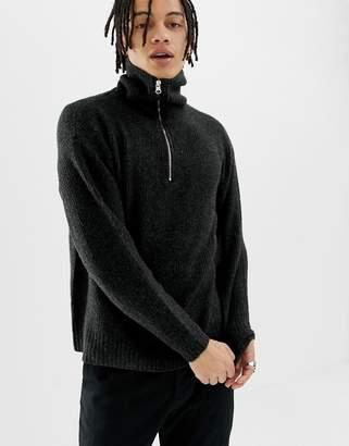 Weekday Bubble Zip Sweater