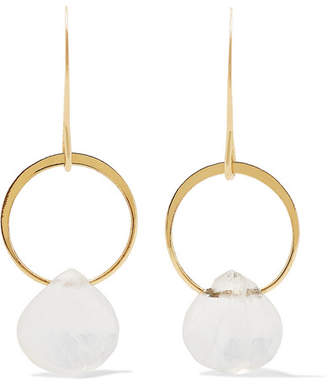 Melissa Joy Manning 14-karat Gold Moonstone Earrings - one size