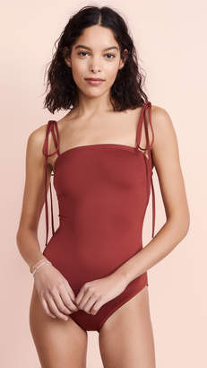 Proenza Schouler Bandeau One Piece Swimsuit