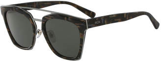 MCM Square Monochromatic Brow-Bar Sunglasses