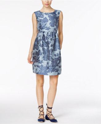 Weekend Max Mara Amerigo Jacquard Fit & Flare Dress $395 thestylecure.com