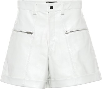 Isabel Marant Cedar high-rise leather shorts