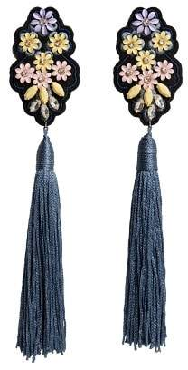 MANGO Fringe beads earrings