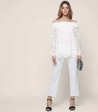 Reiss Levy Off-The-Shoulder Lace Top